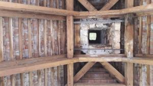 Blick in die offene Dachkonstruktion